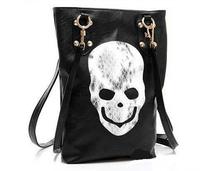 New Style Fashion Punk Black Skull Face Designer Pu leather Handbag Women's Shoulder Bag,Lady Cross Body Bag Free Shipping