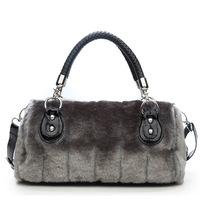 Free shipping- women's handbag faux fur bags velvet shoulder cross-body bags
