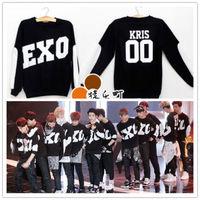 Details about EXO Black Coat Kris Luhan Sweater Kai KPOP Gayo Daejun Daejeon Lay Suho Hoody
