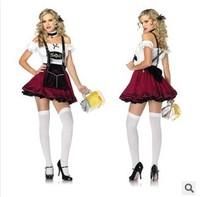 Women Oktoberfest Beer Carnival Wench Maid Costume Halloween Outfit Fancy Dress