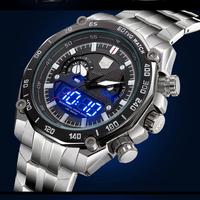 New Luxury Brand TVG 50ATM Waterproof  Multifunction Quartz Men Sports Military Watches Tritium Luminous LED Digital Wristwatch
