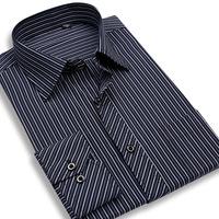 2014 new fall fashion men's long-sleeved pinstripe shirt