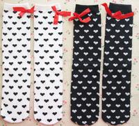 10pairs/lot Sweet girl knee high socks winter long hose baby warm booties kid leg warmer 1-8 years Free Shipping
