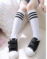 20pairs/lot Striped girl's knee high socks winter baby warm socks kid long hose leg warmers 1-8 years Free Shipping