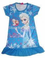 Retail  New 2014  frozen nightgown elsa dress girl dress
