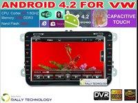 100% Pure Android 4.2 VW Car DVD GPS Navi 1.6G CPU RAM GOLF 6 Polo Bora JETTA MK4 B6 PASSAT Tiguan SKODA OCTAVIA Fabia + CANBUS
