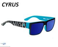 NEW Cyrus Sunglasses Frames MENS square Sports reflective Sun lenses shades Driving Cycling Sun spectacles goggles UV400 BLACK