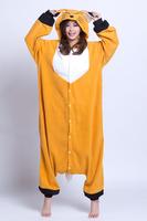 Adult Pajamas All In One Pyjamas Animal Suits Unisex Cosplay Costume Adult Onesies Fleece Animal Sleepwears,Fox