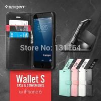 Original Spigen Wallet S Case for iPhone 6, SGP Premium Folio Style Leather Wallet Case for Apple iPhone 6 (4.7)