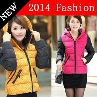 2014 winter office dots vest casual colete brand down vests women fashion cotton active cardigans fur desigual woman coat 927LX