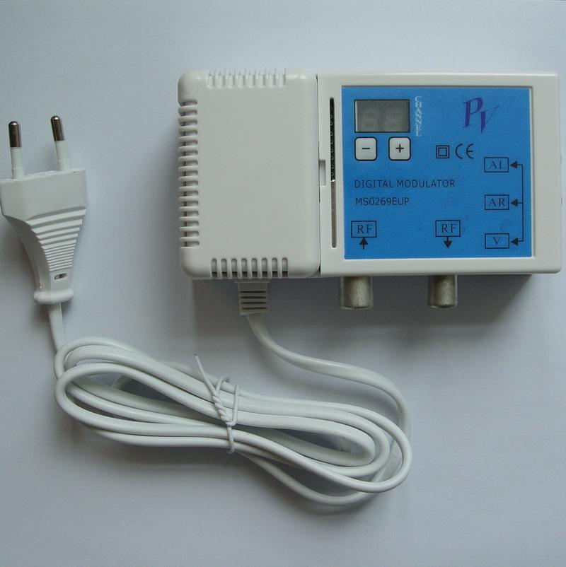 VHF UHF Digital Modulator microprocessor controlled diital RF-modulator PAL system compatible with all digital channel AV to RF(China (Mainland))
