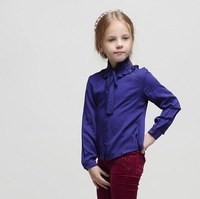 Wlmonsoon Brand Girls Blouse Long Sleeve Lotus Collar Kids Girl Everyday 100% Cotton Multi-Color Blouse Shirt 3-10t