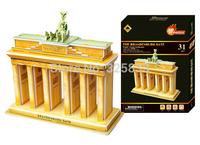 World Famous Architecture-The Brandenburg Gate DIY 3D puzzle 3D jigsaw educational toy best gift to children 31pcs(18*20cm)