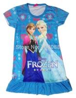 Retail frozen nightgown Love elsa dresses Anna Dream girl dress