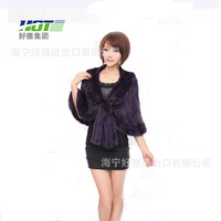 2014 new authentic ladies mink fur coat,woven shawl trade,free shipping