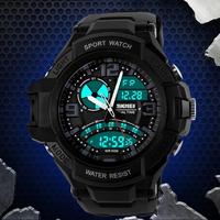 Skmei 50M Diving WaterproofLed Watch Fashion Digital Quartz Watch Sport Multifunctional Black Silicone Wristwatches
