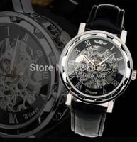 Roman design hollow mechanical watches men mechanical wristwatch