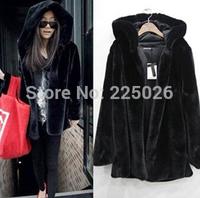 The New Winter Dress Imitation Mink Fur And Faux Fur Collar Rex Rabbit Fur Women's Coat Short Outerwear Jacket Special Coat