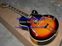 Wholesale -hollow body guitar Sunburst Classic Honey Burst Jazz Guitar Free Shipping A123