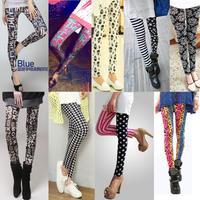 2014 female autumn fashion milk, silk female slim print elastic legging