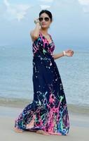 fashion floor length quality soft fabric maxi dress Women Plus Size dress HL319, 3 colors good quality long dress