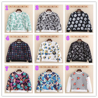 2014 GOOD QUALITY Unisex Men Women's Floral Print 3D Hoodie Long Sleeves Sweatshirts ,9 color S-XL,FREE SHIPPING