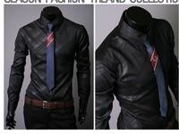 2015 New Arrival men's shirts Slim fit stylish Dress long Sleeve Shirts size M-XXXL ,men shirt