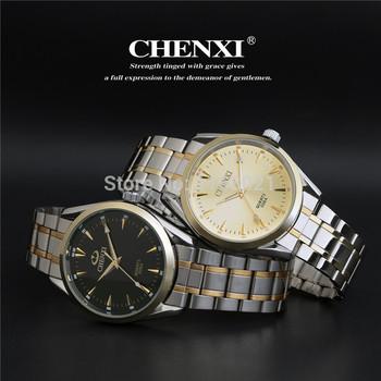 2014 новый золотые часы мужчины из нержавеющей стали кварцевые часы жизни водонепроницаемый мода классический швейцария наручные часы бесплатная доставка