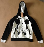 Mickey hooded sweater New 2014 Women Fashion Casual Sweatshirt Hoodies Hoody Cartoon Pullover sport suit  printed