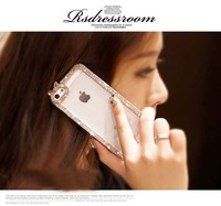 For iPhone 6 Plus Case 5.5 inch Diamond Silver Luxury Lady Noble Girlfriend Gift Fashion For Apple iPhone6 Cover Hot Sale Bling