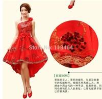 Vestido De Madrinha Bridesmaid 2014 New Fashion Most Beautiful One Shoulder Flower Bridesmaid Dress