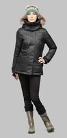 Luna Ladies Parka Black winter coats fur collar hoodied winter jackets outdoor clothing for women brand outwear