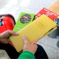 1pc/lot Korean Long Passport Documents Bag Multi-functional Travel Storage Bag Passport Holder For Women EJ840040