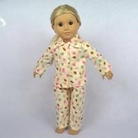 "Free shipping!! Doll Clothes For 18"" American Girl Dolls, Pajamas, 2pcs, girl birthday present,  gift, B04"