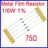 75ohm 1/6W 1% Metal Film Resistor Five Color Ring