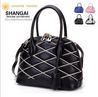 2014 New Vintage bag Women handbag 100% Guaranteed Genuine Leather Women handbags OL ladies brand designers shell shoulder bags