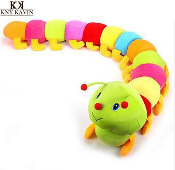 1PCS 50cm Baby Toys Colorful Caterpillars Millennium Bug Doll Plush Toys Large Caterpillar Hold Pillow Doll toys for children(China (
