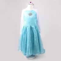 Retail 21014 New  European & American fashion frozen Elsa dress Snowflakes sequined dress animated cartoon dress frozen dress