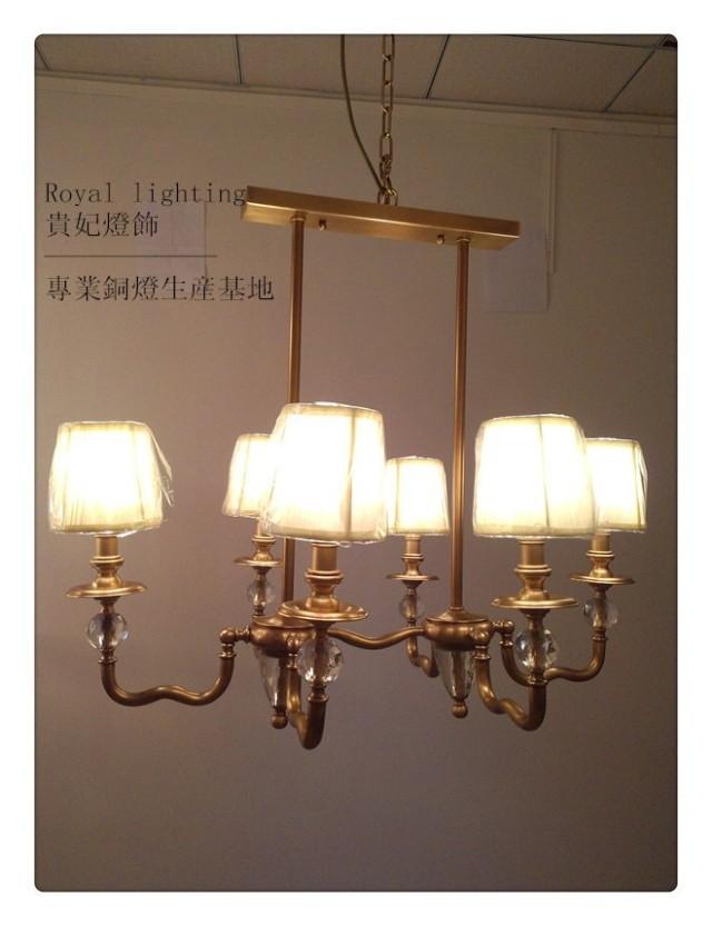 [ Lighting ] Royal American restaurant bar GB brass chandeliers European children's room full of copper chandeliers(China (Mainland))