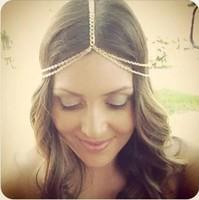 New Fashion Brand Hairband 18K Gold Plated Chain Hair Accessories Fit Beach Wedding Bridal Women Head Jewelry