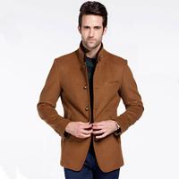 2014New Winter Men Wool Coat Upscale Woolen Outwear Fashion Men Wool Thick Trench Keep Warm Jacket Man Business Leisure Overcoat