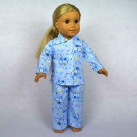 "Free shipping!! Doll Clothes For 18"" American Girl Dolls, Pajamas, 2pcs, girl birthday present,  gift, B05"