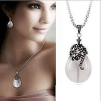 SN408 Vintage Bohemian Short Necklaces Cats-Eys Stone Water Drop Choker Necklaces For Women