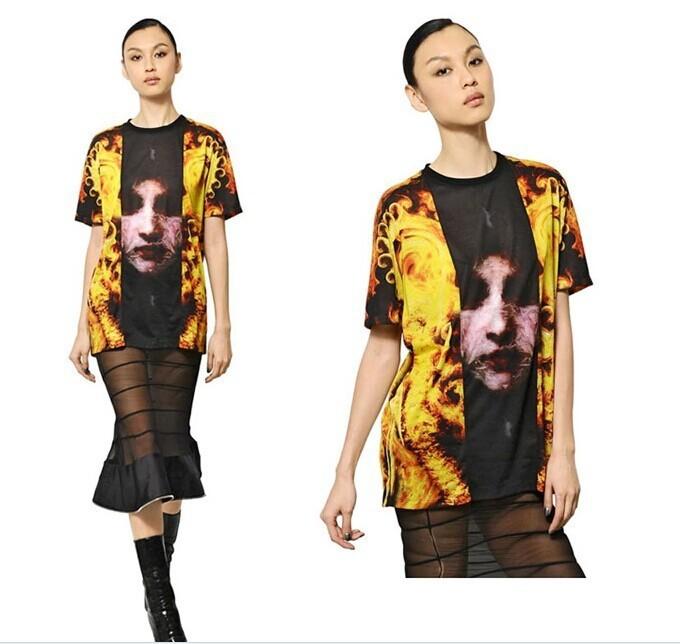 2014 roupa primavera Hot Summer Fashion Women / Men Galaxy chama imprimir Novely 3D mulher Sportswear roupas T-Shirt navio livre PL18(China (Mainland))