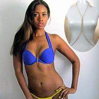 Top Quality HOT Sexy Waist Chain 18K Gold Tone Fish Bone Belly Body Chain Jewelry Women Ladies Beach Party Body Jewelry Gift