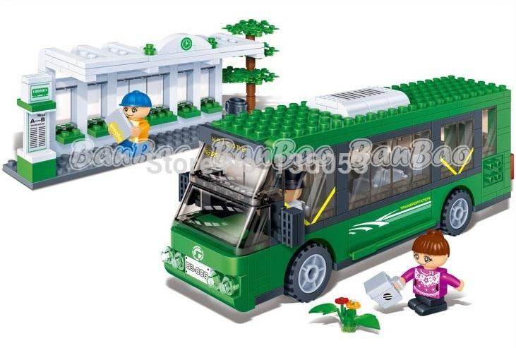 Assembling building blocks Children intelligence blocks city bus toys for intelligence bricks DIY kids toys for kids gift(China (Mainland))