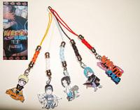 Anime Cartoon Naruto Gaara Metal Action Figure cell phone straps Pendants 38637369240 201409H