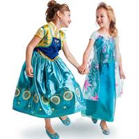 Retail New 2014 frozen dress. Frozen Elsa costume custom size for kids princess dress sequined cartoon costume girls dresses