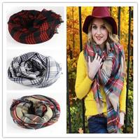 Fashion Lady Girl Women Large Tartan Scarf Wrap Shawl Neck Stole Warm Plaid Checked Pashmina Free Shipping 1pcs/lot