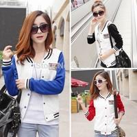[Amy] 2014 new style women jacket  good quality warm Pure color applique women's coat  Dark buckle design3 color size s-xl